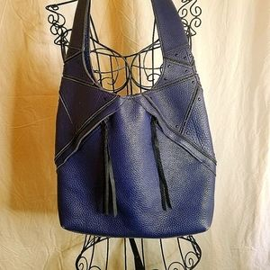 CHRISTOPHER KON HOBO BAG COBALT BLUE.